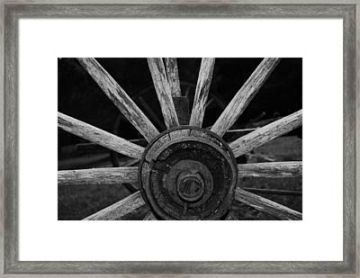 Wagon Wheel Framed Print by Eric Liller