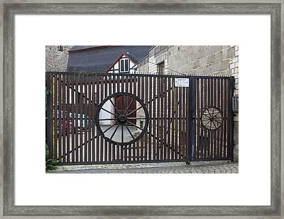 Wagon Wheel Gate Framed Print