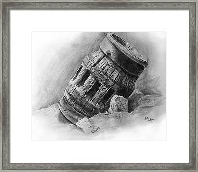 Wagon Wheel Hub Framed Print