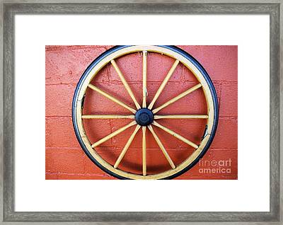 Wagon Wheel Framed Print by John S