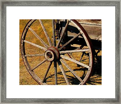 Wagon Wheel Framed Print by Perry Webster