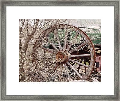 Wagon Wheel Framed Print by Robert Frederick