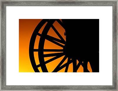 Wagon Wheel Sunset Framed Print