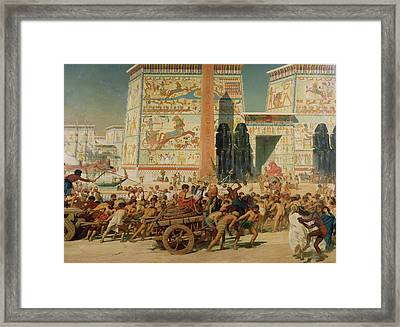 Wagons Detail From Israel In Egypt Framed Print