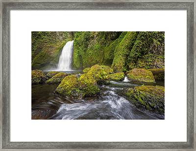 Wahclella Falls Framed Print by David Gn