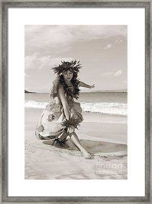 Wahine Hula Framed Print by Himani - Printscapes