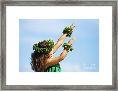 Wahine Hula Framed Print by Ron Dahlquist - Printscapes