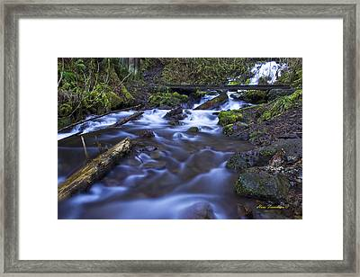 Wahkeena Creek Bridge # 5 Signed Framed Print