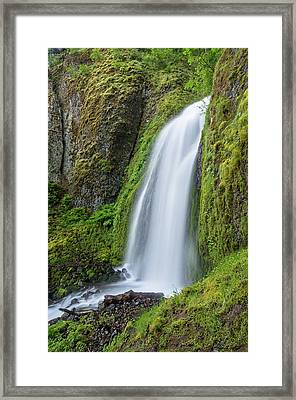 Wahkeena Falls Framed Print by Greg Nyquist