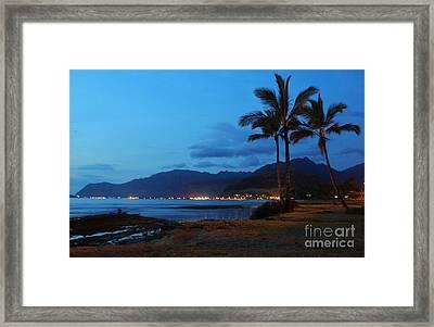 Waianae Night Framed Print