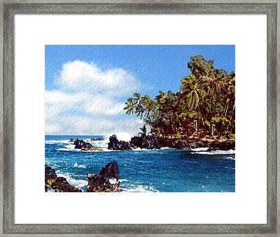Waianapanapa Maui Hawaii Framed Print by Kurt Van Wagner