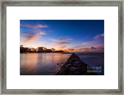 Waikiki At Sunrise Framed Print by Kristin Yata