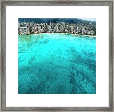 Waikiki Calm Framed Print by Sean Davey