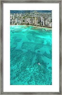 Waikiki Catamaran Framed Print by Sean Davey