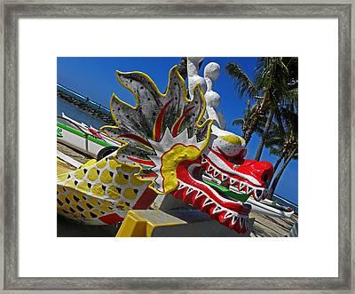 Waikiki Dragon Framed Print by Elizabeth Hoskinson
