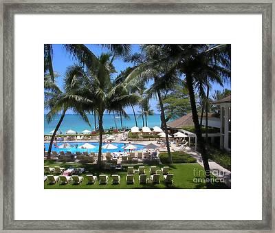 Waikiki Impressionism Framed Print