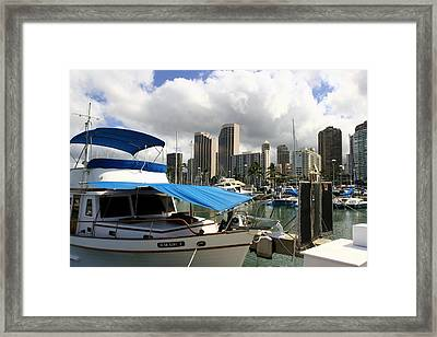 Waikiki Port Framed Print by Andrei Fried