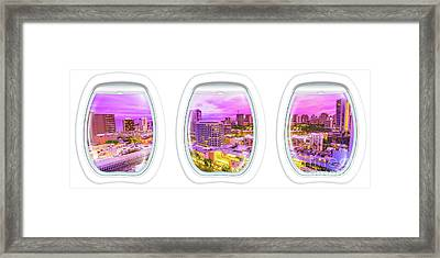 Waikiki Porthole Windows Framed Print