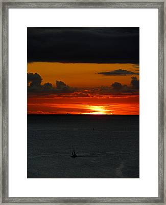 Waikiki Sunset Iv Framed Print