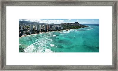 Waikiki To Diamond Head Framed Print