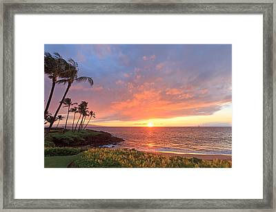 Wailea Sunset Framed Print