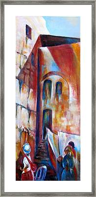 Wailing Wall Women  Section Framed Print