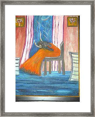 Wailing Woman Framed Print by Betty Abrams