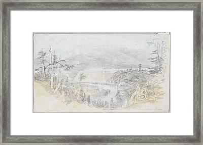 Waimakariri River, 1866, By Nicholas Chevalier Framed Print