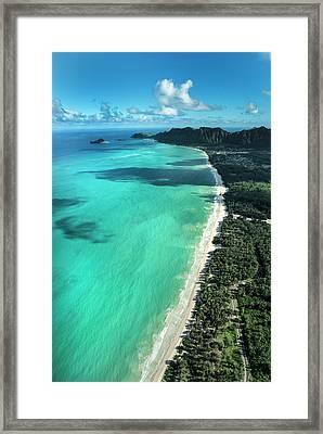 Waimanalo Beach Framed Print by Sean Davey