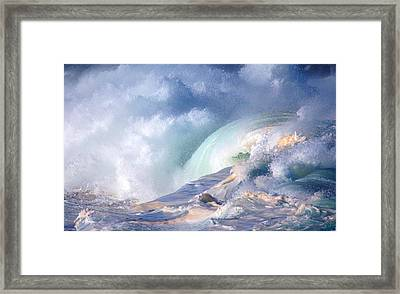 Waimea Bay Shorebreak Framed Print