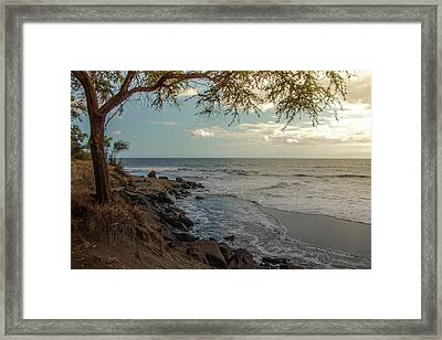 Waimea Bay Sunset Framed Print