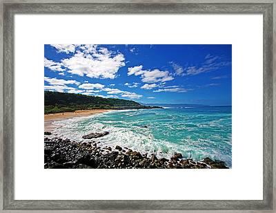 Waimea Bay Framed Print by Ty Helbach