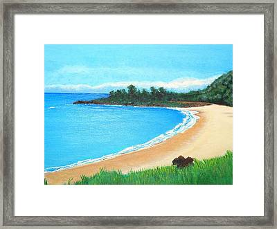 Waimea Bay Framed Print
