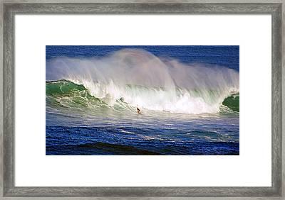 Waimea Bay Wave Framed Print by Kevin Smith