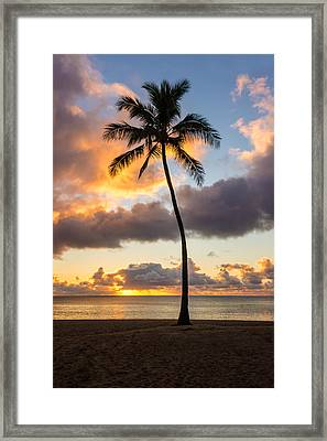 Waimea Beach Sunset 2 - Oahu Hawaii Framed Print