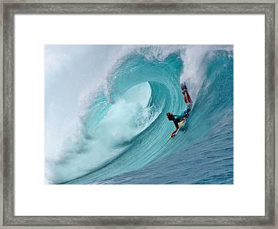 Waimea Bodyboarder Framed Print by Kevin Smith