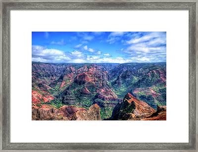 Waimea Canyon Framed Print by Brad Granger
