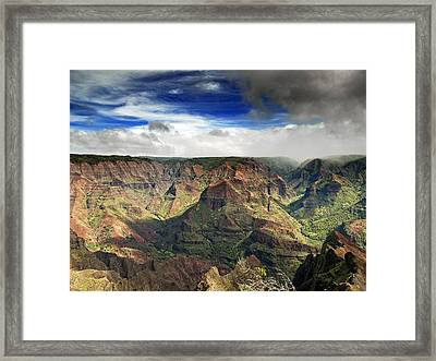 Waimea Canyon Hawaii Kauai Framed Print by Brendan Reals