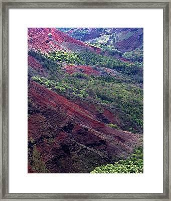 Framed Print featuring the photograph Waimea Canyon II by Kenneth Campbell