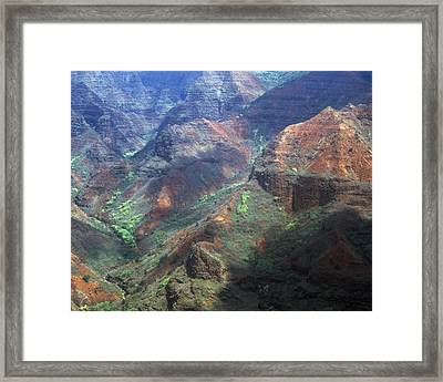 Waimea Canyon Framed Print