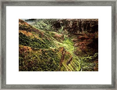 Waimea Canyon Framed Print