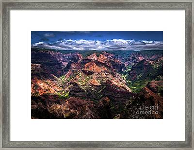 Waimea Canyon On Kauai Framed Print