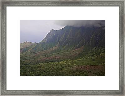 Waimea Canyon Westward Framed Print by Steven Lapkin