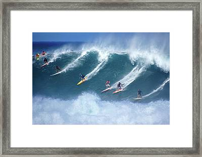 Waimea Full Flight Framed Print