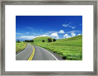 Waimea Ranch Land Framed Print by Bob Abraham - Printscapes