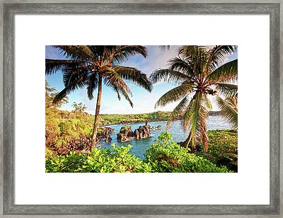 Wainapanapa, Maui, Hawaii Framed Print by M.M. Sweet