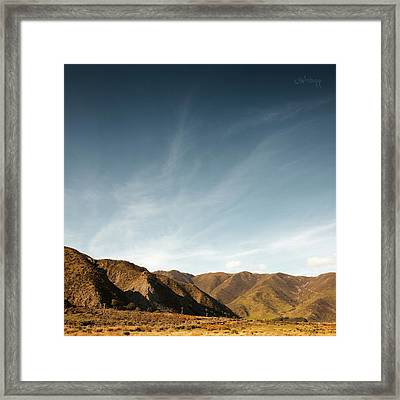 Framed Print featuring the photograph Wainui Hills Squared by Joseph Westrupp