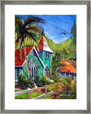Waioli Church Framed Print by Jerri Grindle