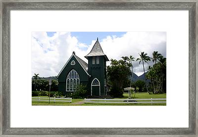 Wai'oli Hui'ia Church Framed Print by Annie Babineau