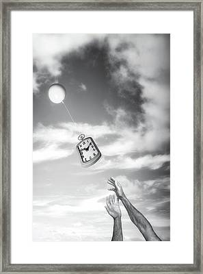 Wait A Minute Framed Print